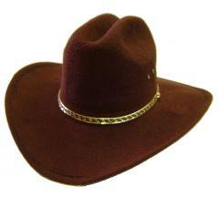 Modestone Men's Akubra Cattleman Faux Felt Cowboy Hat