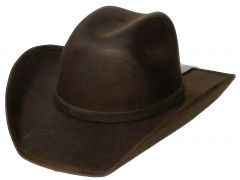 Modestone ''Faux Felt'' Cowboy Hat ''Sizes For Small Heads'' Brown
