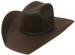 Modestone ''Faux Felt'' Cowboy Hat Brown