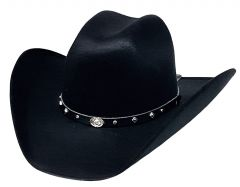 Modestone ''Faux Felt'' Cowboy Hat Black