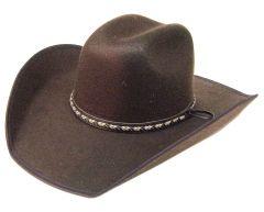 Modestone ''Faux Felt'' Cowboy Hat Brown