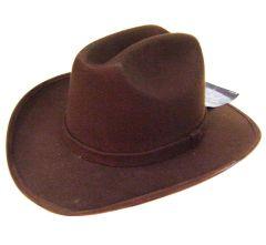 Modestone ''Felt Feel'' Cowboy Hat Brown