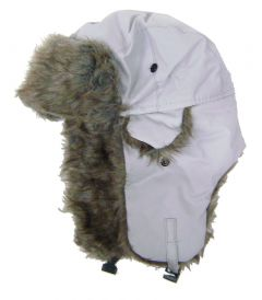 Modestone Warm Trapper Bomber Hat Faux Fur Trim o/s Grey