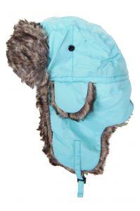 Modestone Warm Trapper Bomber Hat Faux Fur Trim o/s Light Blue