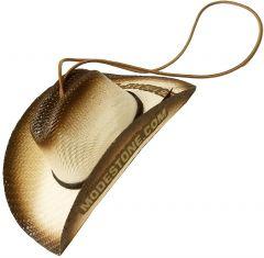 Modestone Brandable Small Straw Pet Hat Elastic String Brown