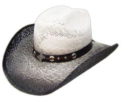 Modestone Straw Cowboy Hat Grey