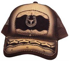 Modestone Western Snapback Ball Cap Metal Bull Longhorn Horseshoe Embroidered
