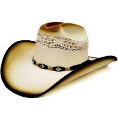 Modestone Men's Straw Cowboy Hat White