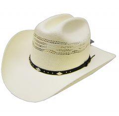 Modestone Boy's Bangora Straw Cowboy Hat Off White