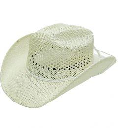 Modestone Girl's Straw Cowboy Hat XS White
