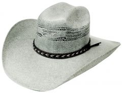 Modestone Traditional Bangora Rodeo Straw Cowboy Hat Grey