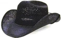 Modestone Boy's Straw Cowboy Hat XS Black