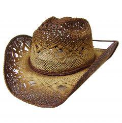 Modestone Unisex Straw Cowboy Hat Beige