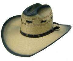 Modestone Men's Traditional Straw Cowboy Hat S Tan
