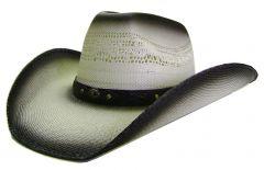 Modestone Unisex Grey Straw Cowboy Hat Concho Hatband Grey