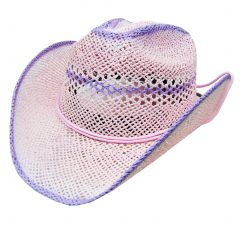 Modestone Women's Cool Summery Straw Hat Pink
