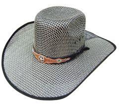 Modestone Traditional Bangora Rodeo Straw Cowboy Hat Green