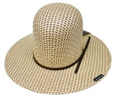 Modestone Boy's Straw Cowboy Hat ''Make Your Own Shape'' Beige/White 2-Tone
