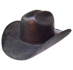 Modestone Straw Cowboy Hat Black