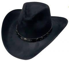 """Modestone Unisex """"Felt Feel"""" Wide Brim Cowboy Hat Black"""