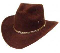 Modestone Men's Akubra Faux Felt Cowboy Hat Brown