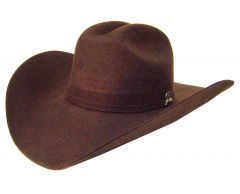 Modestone Genuine 2X Wool Felt Cowboy Hat Brown