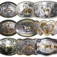Modestone 12 Pcs Top Selling Combo Pack Metal & Nickel Silver Western Buckles
