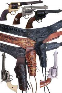 Modestone 12 Pcs Top Selling Combo Pack Leather Holster Gun Belt Rigs