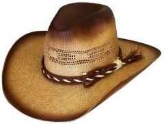 Modestone Wide Brim Straw Cowboy Hat Bangora Breezer Beige