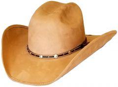 "Modestone Unisex ""Felt Feel"" Wide Brim Cowboy Hat Beige"