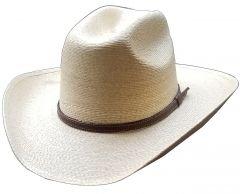 Modestone Kids Palm Cowboy Hat Wide Brim Hand Torched Burnt Beige