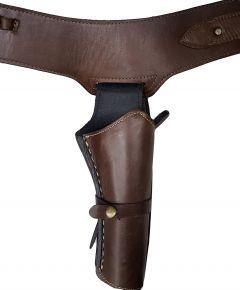 Modestone Western Leather Holster Gun Belt Rig 44/45 Revolver Brown