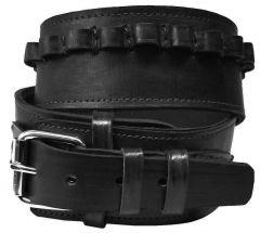 Modestone 38/357 Cal High Ride/Rise Handmade Leather Gun Belt *NO HOLSTERS* Black