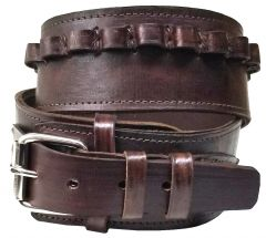 Modestone 44/45 Cal High Ride/Rise Handmade Leather Gun Belt *NO HOLSTERS* Brown