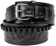 Modestone 22 cal Western High Ride/Rise Leather Gun Belt *NO HOLSTERS* Black