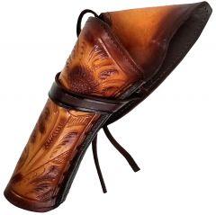 Modestone Left Handed Cross Draw Holster for Gun Belt Leather Western Tan