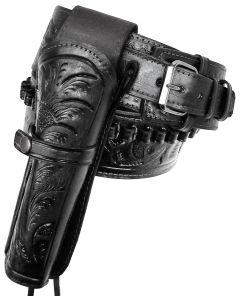 Modestone 22 Cal Western RIGHT High Ride/Rise Holster Gun Belt Rig Leather