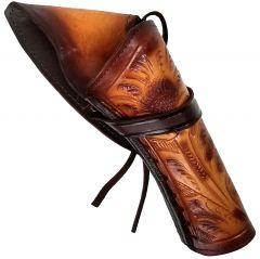 Modestone Right Handed Cross Draw Holster for Gun Belt Leather Western Tan