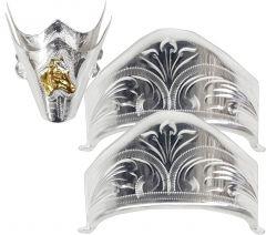 Modestone 4x Nickel Silver Boot Caps: 2 x Toe Horse Head + 2 x Heel Silver