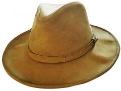 Modestone Unisex Suede Short Floppy Brim Cowboy Hat Tan