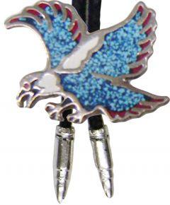 Modestone Unisex Bolo Flying Eagle & Silver Bullets Aqua