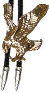 Modestone Unisex Bolo Flying Eagle & Silver Bullets Golden