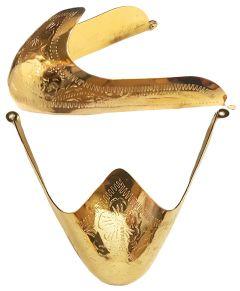 Modestone Pair Metal Toe Tips/Caps Western Filigree O/S Gold