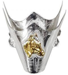 Modestone Pair Nickel Silver Toe Caps/Tips Horse Western Filigree O/S Silver