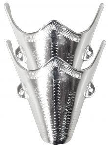 Modestone Pair Nickel Silver Toe Caps/Tips Western Filigree O/S Silver
